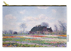 Tulip Fields At Sassenheim Carry-all Pouch by Claude Monet