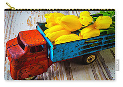 Tulips In Toy Truck Carry-all Pouch by Garry Gay