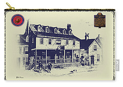 Tun Tavern - Birthplace Of The Marine Corps Carry-all Pouch by Bill Cannon