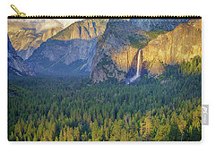 Tunnel View At Sunset Carry-all Pouch by Rick Berk