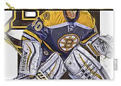 Tuukka Rask Boston Bruins Oil Art 1 Carry-all Pouch by Joe Hamilton