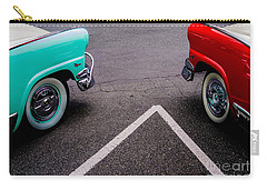 Carry-all Pouch featuring the photograph Two 1958 Ford Crown Victorias by M G Whittingham