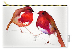 Two Little Birds Carry-all Pouch by Nancy Moniz