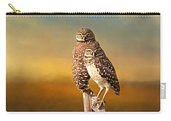 Two Of Us Carry-all Pouch by Kim Hojnacki