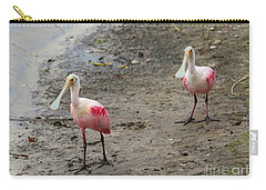 Two Roseate Spoonbills 2 Carry-all Pouch by Carol Groenen