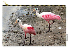 Two Roseate Spoonbills Carry-all Pouch by Carol Groenen