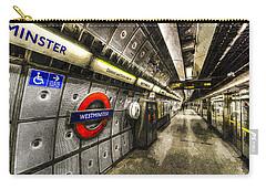 Underground London Art Carry-all Pouch by David Pyatt