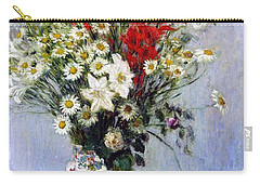 Vase Of Flowers Carry-all Pouch by Claude Monet