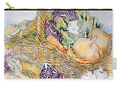 Vegetables In A Basket Carry-all Pouch by Joan Thewsey