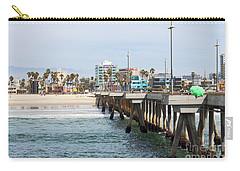 Venice Beach From The Pier Carry-all Pouch by Ana V Ramirez