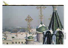View From A Window Of The Moscow School Of Painting Carry-all Pouch by Sergei Ivanovich Svetoslavsky