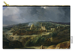View Of Jerusalem From The Valley Of Jehoshaphat Carry-all Pouch by Auguste Forbin