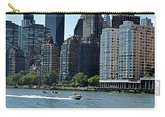 View Of Manhattan From Roosevelt Island Carry-all Pouch by Sandy Taylor