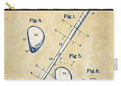 Vintage 1910 Golf Club Patent Artwork Carry-all Pouch by Nikki Marie Smith