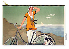 Vintage Bicycle Advertising Carry-all Pouch by Mindy Sommers