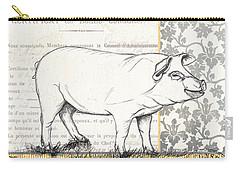 Vintage Farm 2 Carry-all Pouch by Debbie DeWitt
