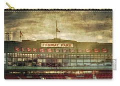 Vintage Fenway Park - Boston Carry-all Pouch by Joann Vitali