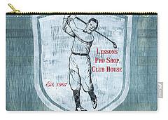 Vintage Golf Blue 1 Carry-all Pouch by Debbie DeWitt