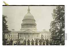 Vintage Motorcycle Police - Washington Dc  Carry-all Pouch by War Is Hell Store