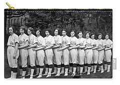 Vintage Photo Of Women's Baseball Team Carry-all Pouch by American School