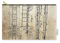 Vintage Semi Trailer Truck Patent Carry-all Pouch by Dan Sproul