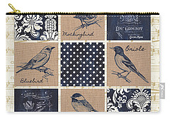 Vintage Songbird Patch 2 Carry-all Pouch by Debbie DeWitt
