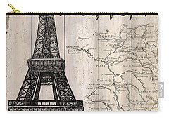 Vintage Travel Poster Paris Carry-all Pouch by Debbie DeWitt