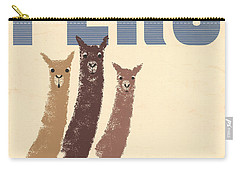 Vintage Wild Life Travel Llamas Carry-all Pouch by Mindy Sommers