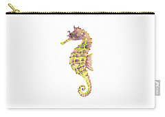 Violet Green Seahorse Carry-all Pouch by Amy Kirkpatrick