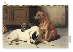 Waiting For Master Carry-all Pouch by William Henry Hamilton Trood