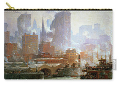 Wall Street Ferry Ship Carry-all Pouch by Colin Campbell Cooper