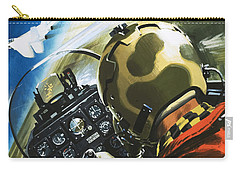 War In The Air Carry-all Pouch by Wilf Hardy