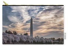 Washington Blossom Sunrise Carry-all Pouch by Erika Fawcett
