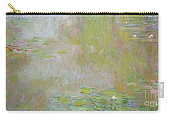 Waterlilies At Giverny Carry-all Pouch by Claude Monet