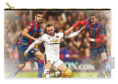 Wayne Rooney Shoots At Goal Carry-all Pouch by Don Kuing
