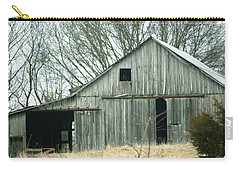 Weathered Barn In Winter Carry-all Pouch by Cricket Hackmann