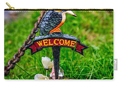 Welcome Sign Carry-all Pouch by Adrian Evans