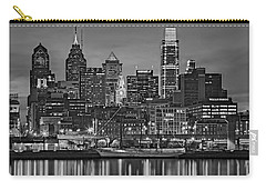 Welcome To Penn's Landing Bw Carry-all Pouch by Susan Candelario