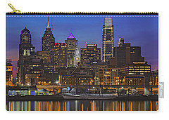 Welcome To Penn's Landing Carry-all Pouch by Susan Candelario