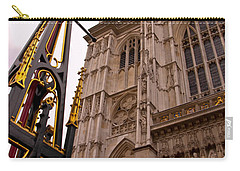 Westminster Abbey London England Carry-all Pouch by Jon Berghoff
