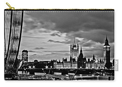 Westminster Black And White Carry-all Pouch by Dawn OConnor