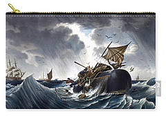 Whale Destroying Whaling Ship Carry-all Pouch by American School