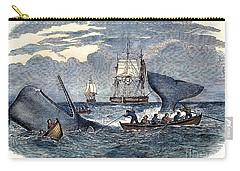 Whaling In South Pacific Carry-all Pouch by Granger