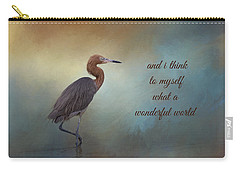 What A Wonderful World Carry-all Pouch by Kim Hojnacki