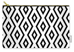 White And Black Pattern Carry-all Pouch by Christina Rollo