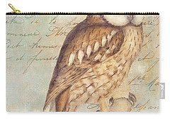 White Faced Owl Carry-all Pouch by Mindy Sommers