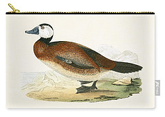White Headed Duck Carry-all Pouch by English School