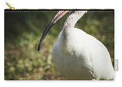 White Ibis On A Walk  Carry-all Pouch by Saija  Lehtonen