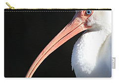 White Ibis Profile Carry-all Pouch by Carol Groenen
