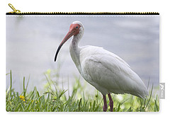 White Ibis  Carry-all Pouch by Saija  Lehtonen